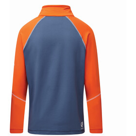 Dare 2b Formate Core Sweat Stretch À Manches Longues Enfant, blaze orange/dark denim